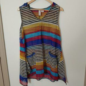 Like New Nouveau Monde Hooded Top Swim Cover Up